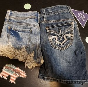 Almost Famous Shorts - 2 pairs of Jean shorts